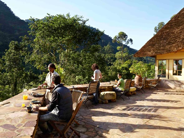 Volcanoes Bwindi Safari Lodge - Alfresco dining