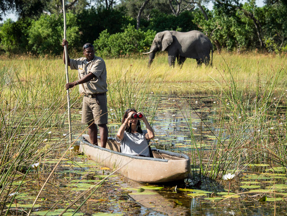 Luxurious Vic Falls & Botswana Safari - Mokoro rides
