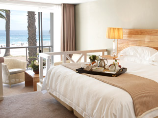 Top Beach Hotels in Cape Town - The Bay Hotel breakfast in bed