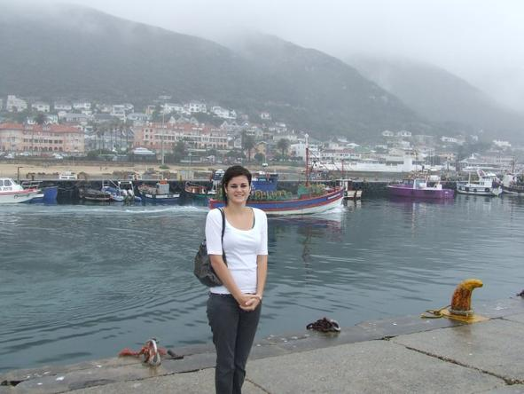 Jenieen van den Heever - it's a chilly day in Hout Bay! Braving the Cape Town winter.