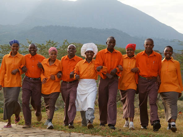 Hatari Lodge - Professional staff