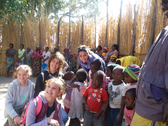 Kelly-Anne Blanchard - hanging out with some local children at an orphanage near Victoria Falls in Zimbabwe.