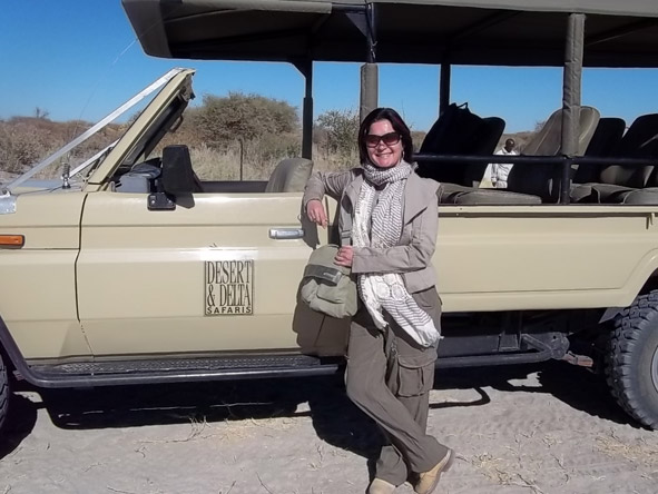 Lauren Johansson - on safari with Desert & Delta in the Okavango Delta, Botswana