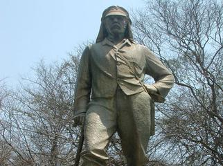 Africa's Great Adventurers - David Livingstone's statue at Victoria Falls