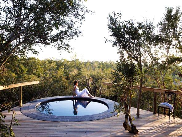There are only three suites at super-exclusive Pioneer Camp, each with its own plunge pool set on a viewing deck.