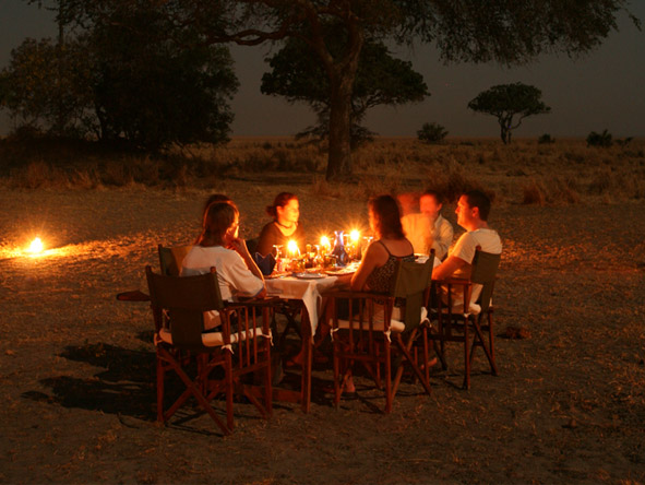 Katuma Bush Lodge - Alfresco dining
