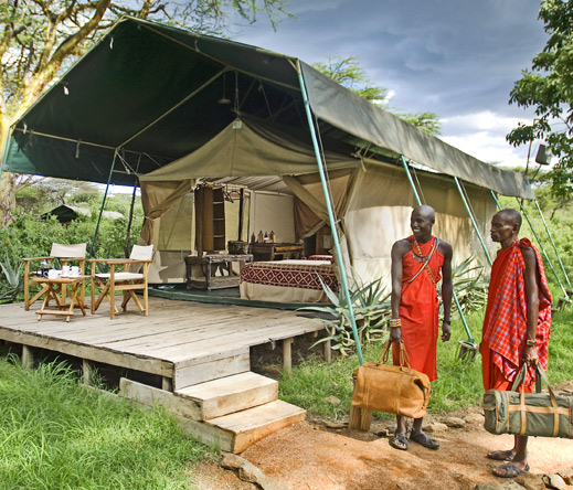Maasai guards will settle you into your tented suite at Mara Porini, set in a game-rich private conservancy.