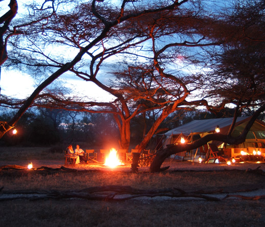 Firelight, lamplight & starlight all come together at Porini Amboseli Camp - a great romantic choice!