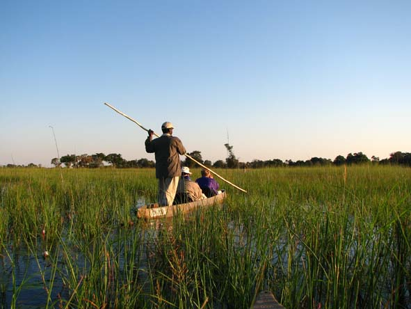 Explore the winding waterways of the Okavango Delta before kicking back on a white-sand beach.
