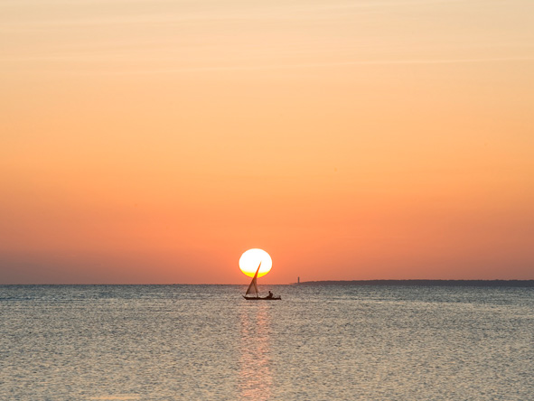 End a day on the beach with a relaxing dhow cruise - the best way to enjoy the Indian Ocean sunset.