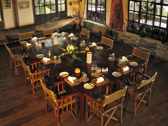 Volcanoes Virunga Lodge - Communal dining