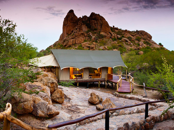 Erongo Wilderness Lodge - Privately-set tented chalets
