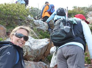 Cape Escape - Joanne hiking