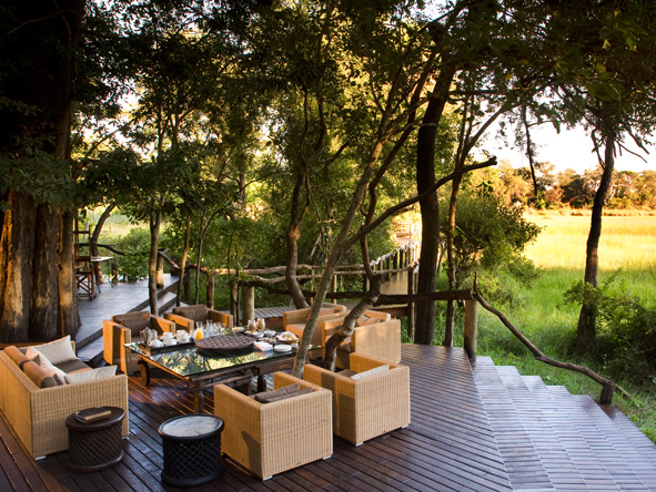 Nxabega Okavango Safari Camp - Stunning deck views