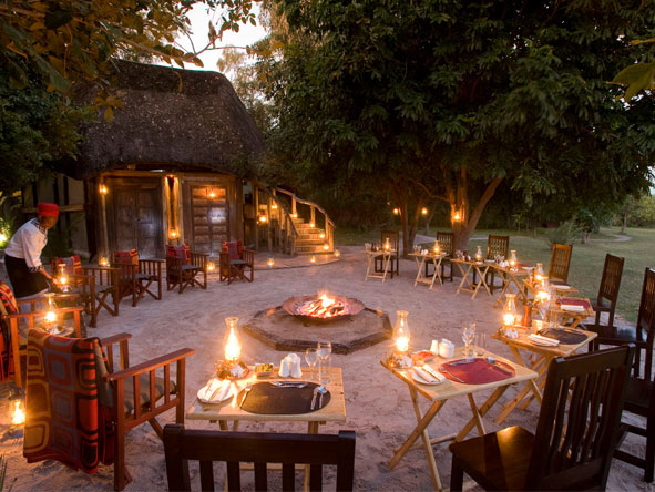 Botswana's Best Safari - Communal campfire