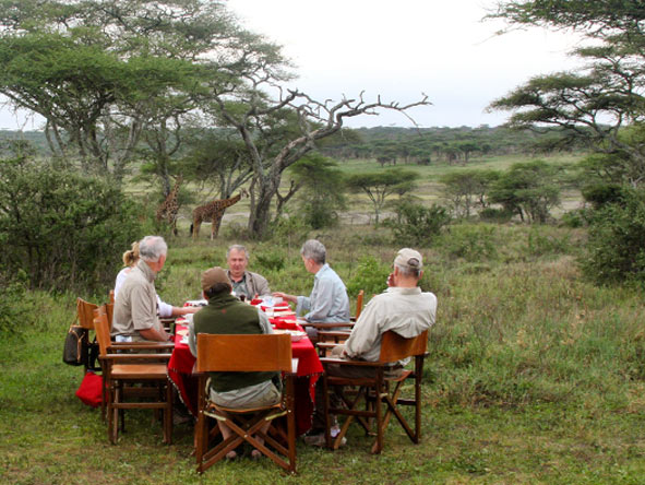Lemala Ndutu - Bush breakfasts