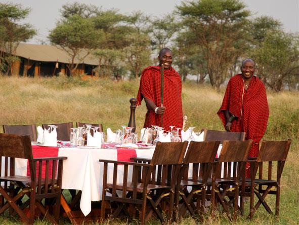 Lemala Ndutu - Alfresco dining