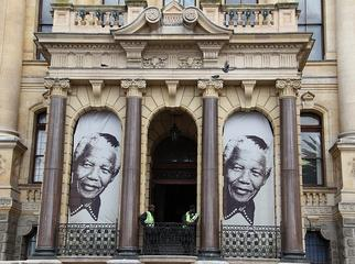 Mandela in Cape Town - city hall today