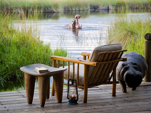 Xakanaxa Camp - Resident hippos