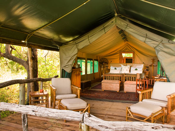 Xakanaxa Camp - Spacious tented suites
