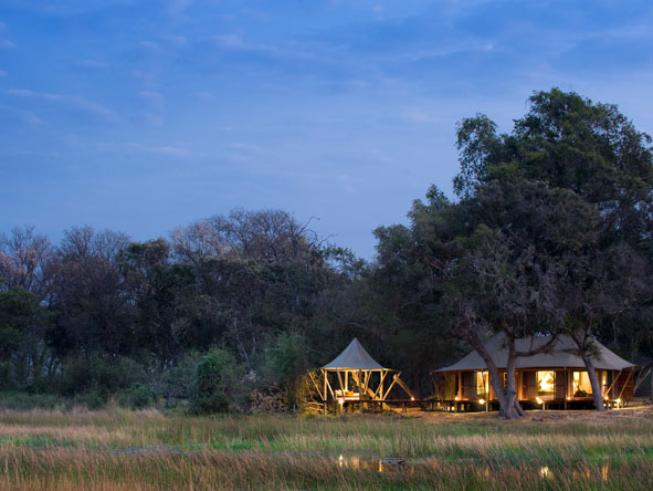 Xaranna Tented Camp - Okavango floodplain views