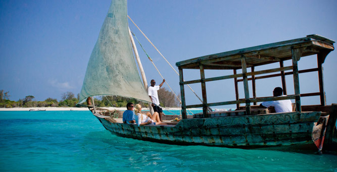 Where to go in Africa in January - Sailing to Mnemba Island