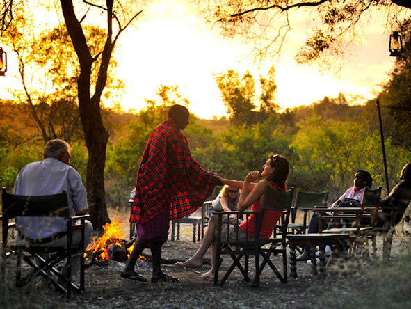Affordable Kenya Flying Safari - Sunset drinks