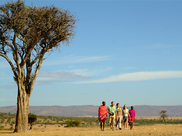 Affordable Kenya Flying Safari - Guided walks