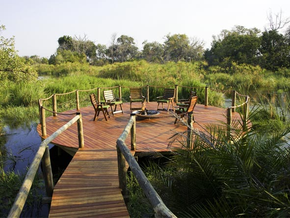 Best of Botswana Safari - Riverside deck
