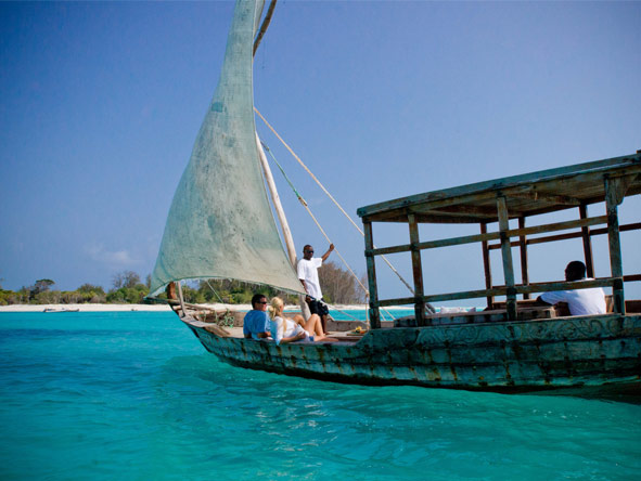 Mnemba Island Lodge - Dhow sailing