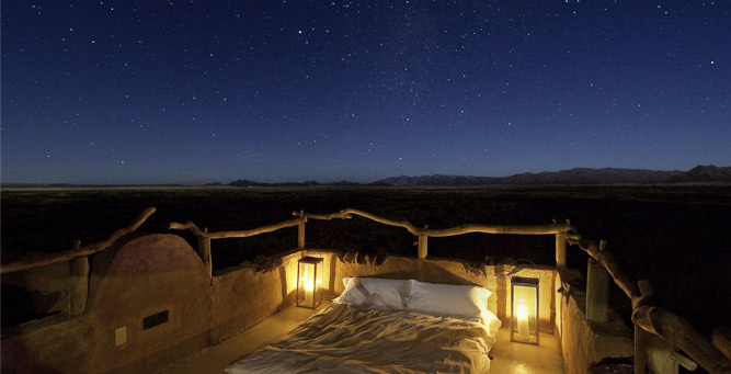 Most Romantic Beds with a View - Kulala Desert Lodge