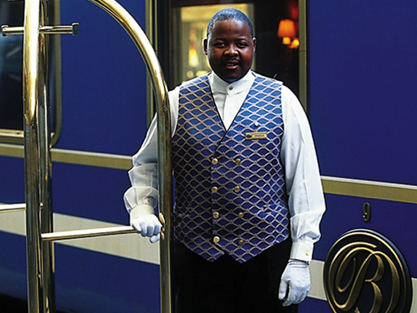 White-gloved porters make sure your luggage is well taken care when boarding & disembarking.