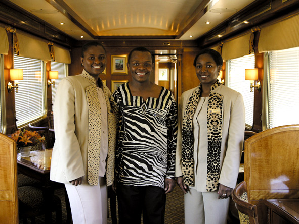 Broad smiles & warm, personalised service are part of the Blue Train experience.