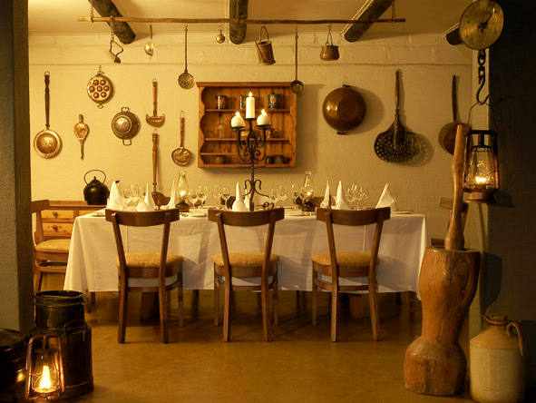 Diners will love the old-world charm of Sabi Sabi Selati's farmhouse kitchen.