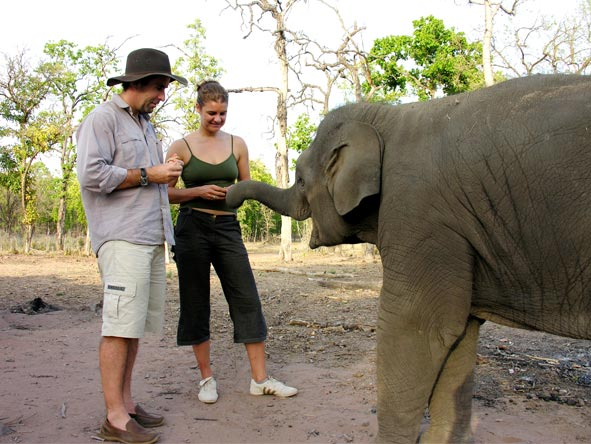 Gary Lotter - meeting an elephant in India