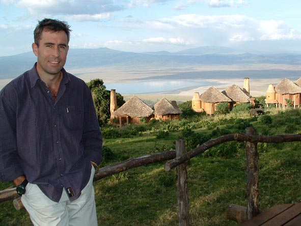 Gary Lotter - marvelling at the views of the Ngorongoro Crater in Tanzania