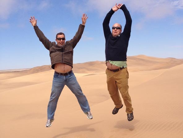 Gary Lotter - having fun in the Namib Desert