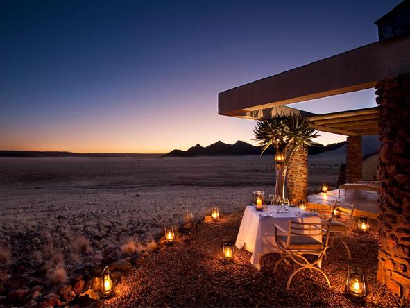 Sossusvlei Desert Lodge - Romantic dinners