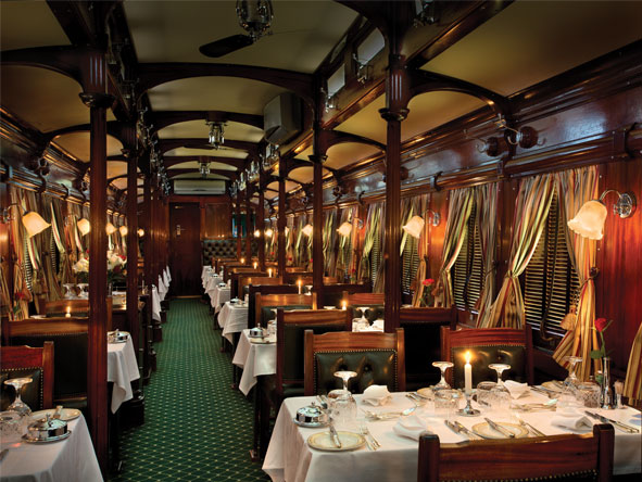 Train Journey to Vic Falls - Elegant dining experience