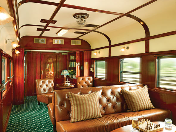 Train Journey to Vic Falls - Lounge car