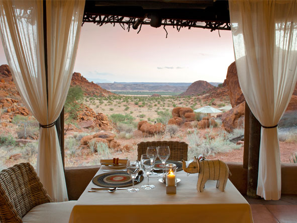 Scenic Namibia Fly-in Safari - Private dining