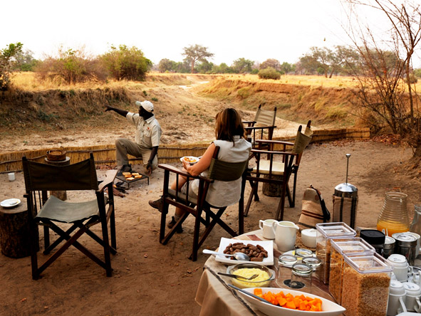 Thrilling Zambian Walking Safari - Hearty breakfasts