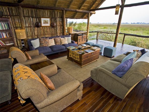 Duba Plains Camp - Okavango Delta views