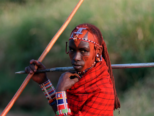 Classic Kenya Private 4x4 Safari - Maasai warriors