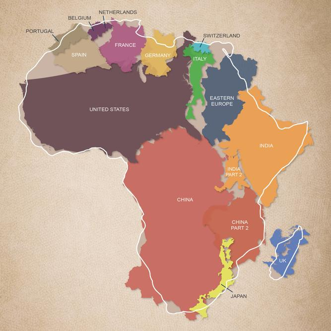 Why is Africa Expensive? World Map in Africa