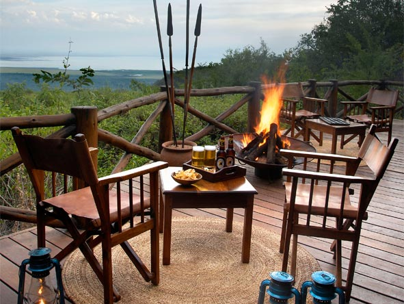 Serengeti Safari Adventure - Outdoor campfire