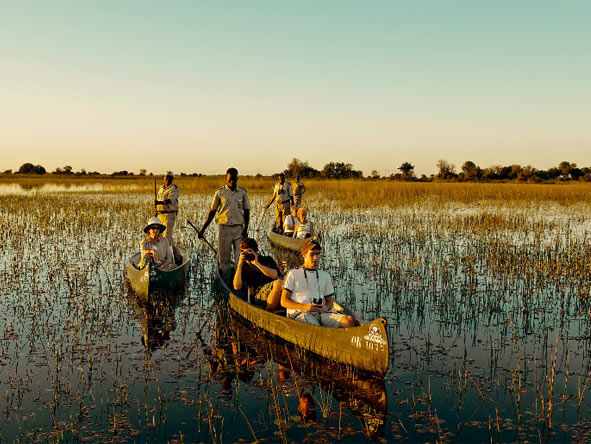Family Journey through Botswana - Mokoro rides