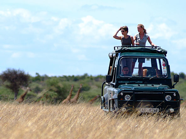 Magnificent Amboseli & Mara Retreat - Open-roof game vehicles