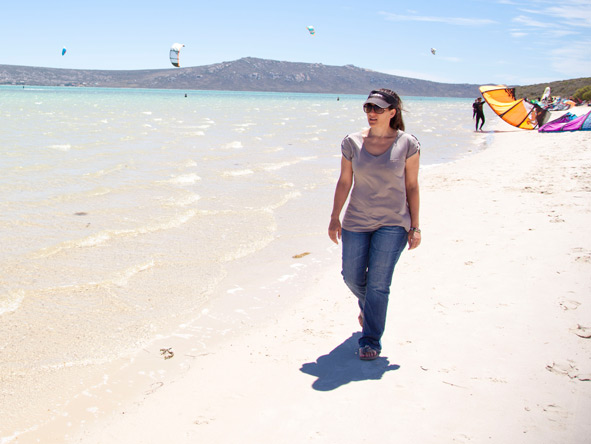 Donyale MacKrill - wandering along the shoreline in Langebaan on the West Coast.
