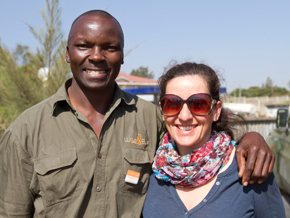 Donyale MacKrill - on a scheduled safari with her friendly Kenyan guide.